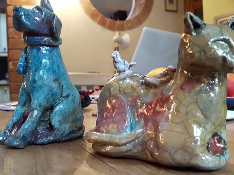 Raku Sculptures