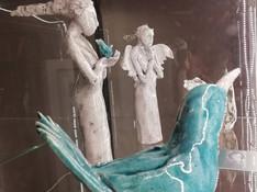 Ceramic Angels and Birds