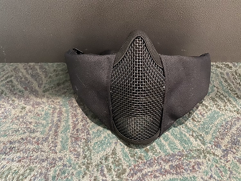 Half face mask with material sides - Black