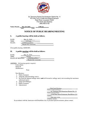 NOTICE OF PUBLIC HEARING / MEETING