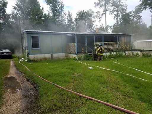 MAN BURNED DURING RESIDENTIAL STRUCTURE FIRE