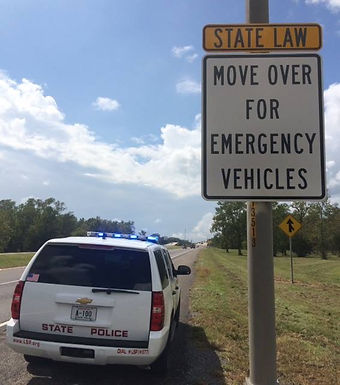 """MOVE OVER"" SIGNS ON THE INTERSTATES & HIGHWAYS"