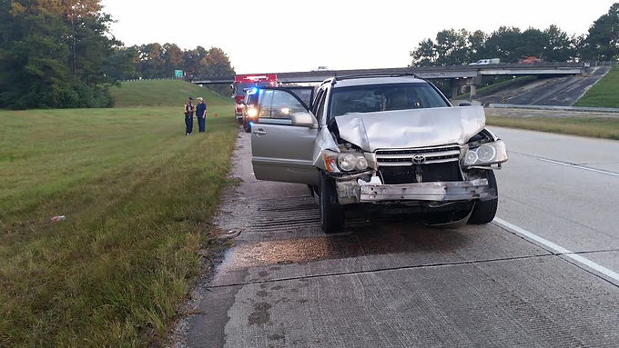 REAR END COLLISION ON I-59