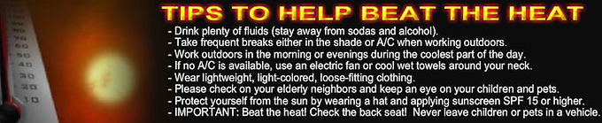 TIPS TO BEAT THE HEAT
