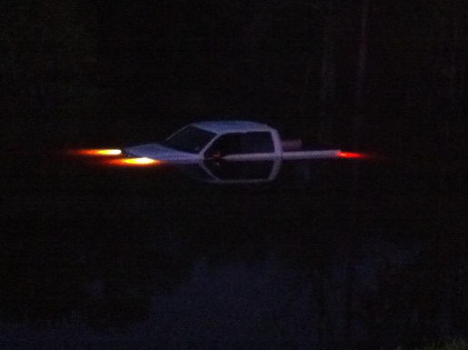 VEHICLE IN THE WATER