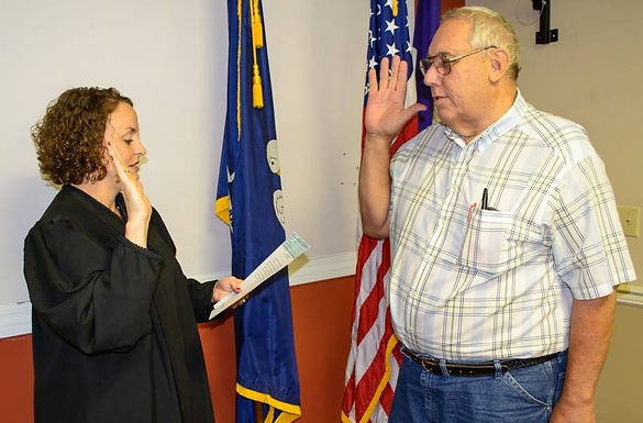 FISCHER SWORN IN TO SECOND TERM ON THE CIVIL SERVICE BOARD