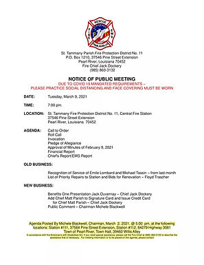 BOARD OF COMMISSIONER'S MEETING