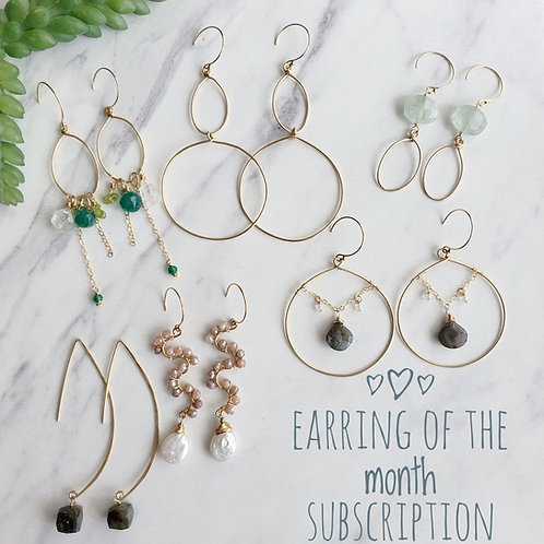 Earring of the Month Subscription