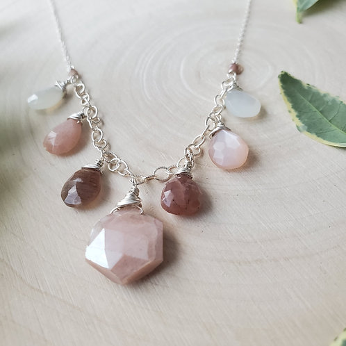Moonstone Ombre Necklace