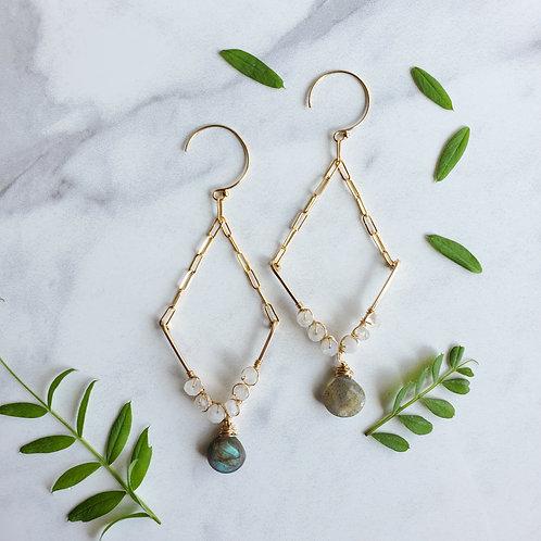 Moonstone V Earrings