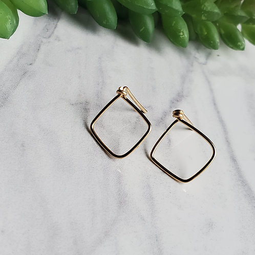Diamond Post Earrings