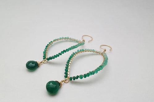 Green Ombre Quartz Earrings