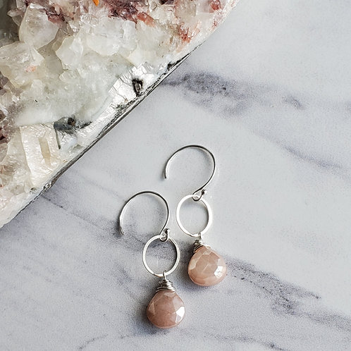 Peach Moonstones Drops