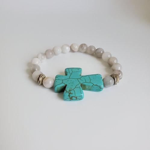 Turq Cross Bracelet