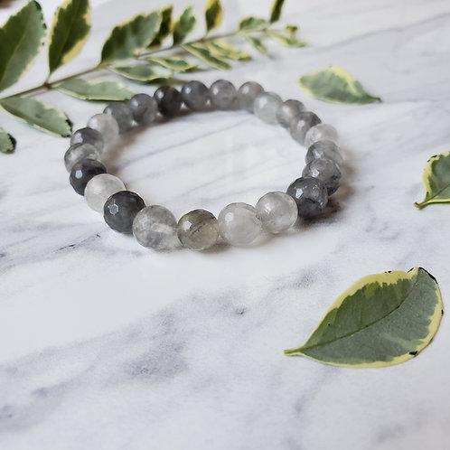Gray Quartz Stacking Bracelet