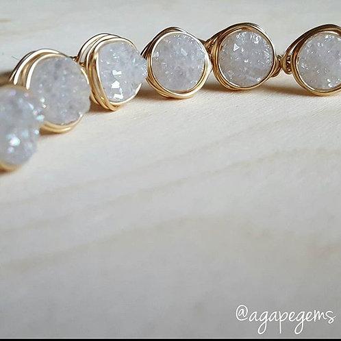 Gold Druzy Rings