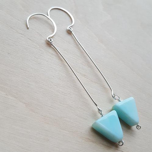 Peruvian Opal Arrow Earrings