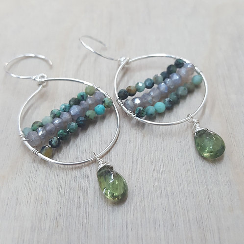 Gemstone Mini Hoops
