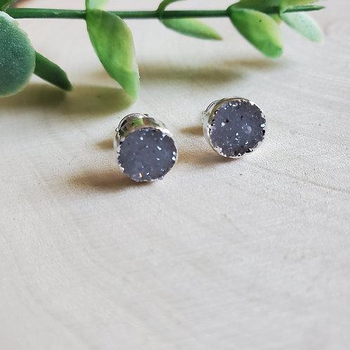 Tiny Druzy Post Earrings