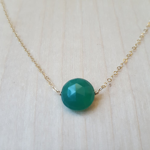 Green Onyx Coin Choker