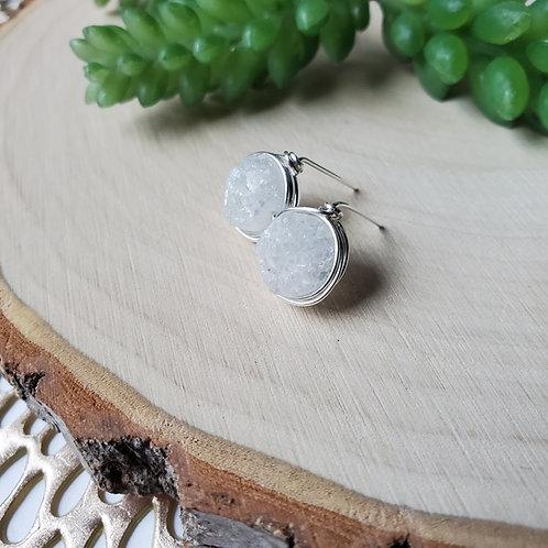 Druzy Nest earrings