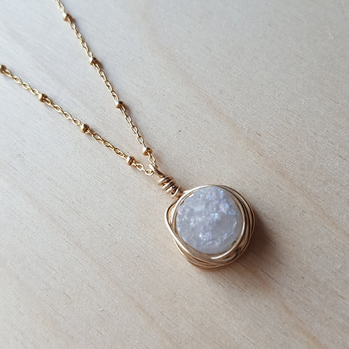 Druzy Nest Necklace
