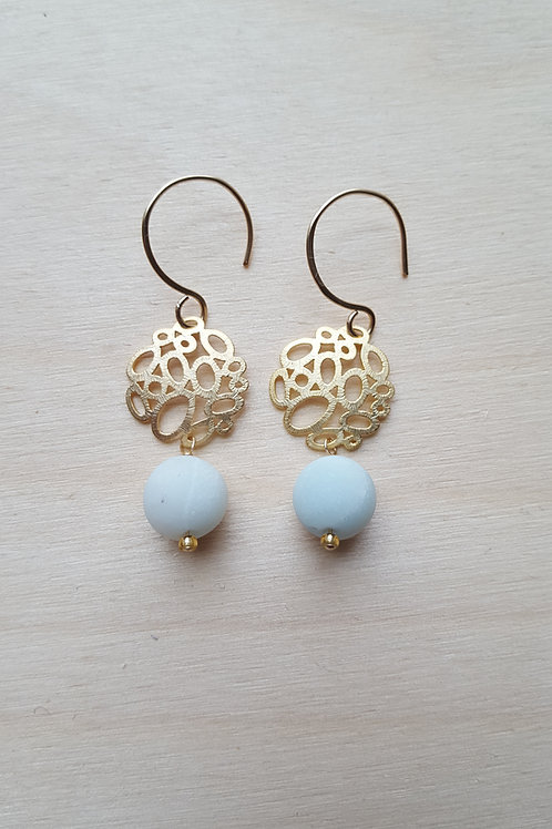 Frosted Bauble Earrings