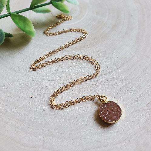 Tiny Druzy Necklace