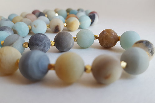 Gold Frost Amazonite Necklace