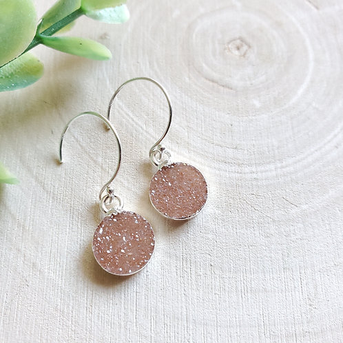Tiny Druzy Drop Earrings