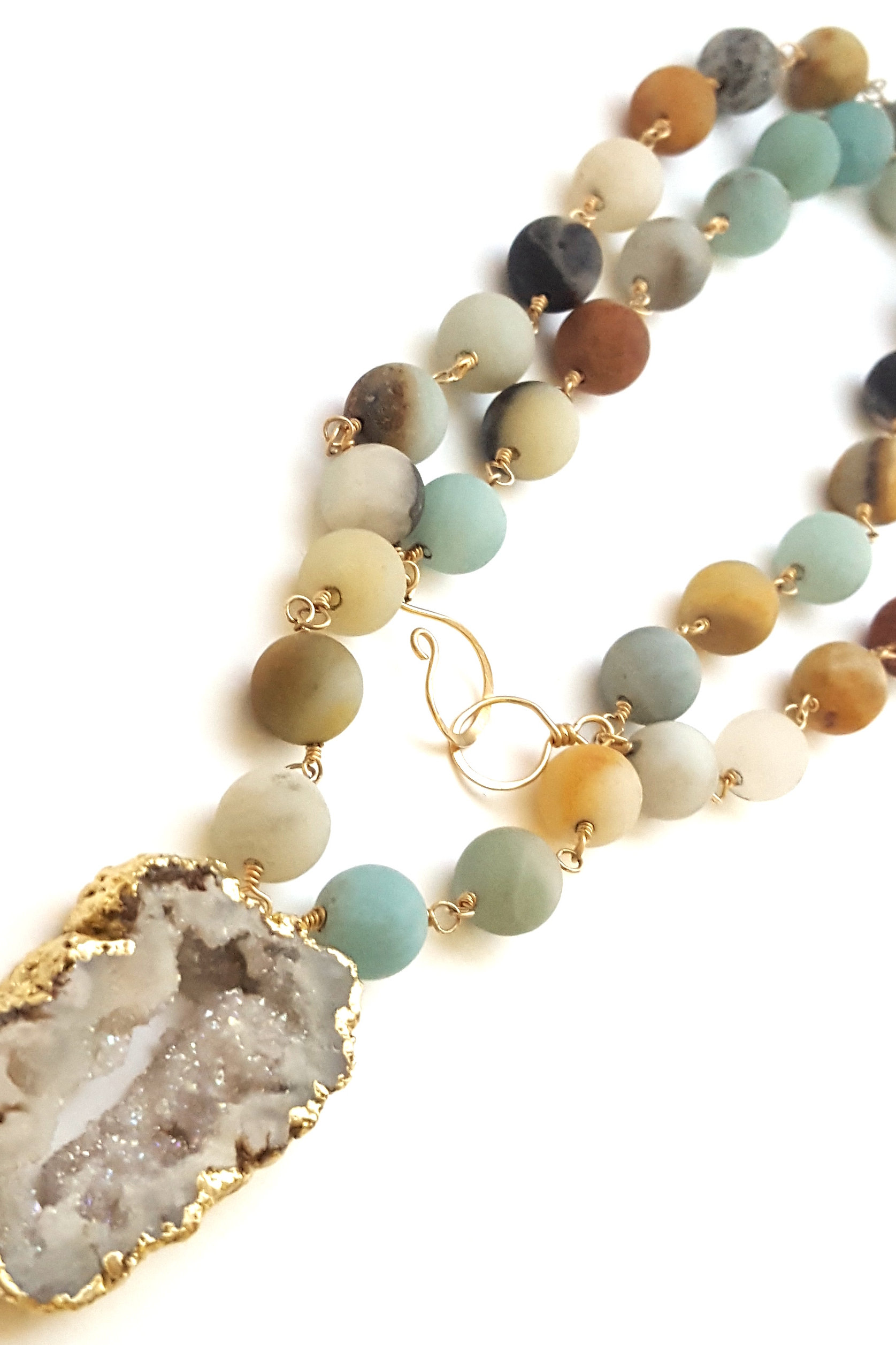 Frosted Druzy Necklace