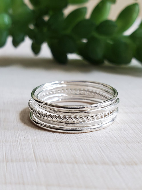 Sterling Stackers, Set of 5