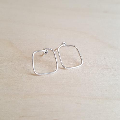 Tiny Cube Post Earrings