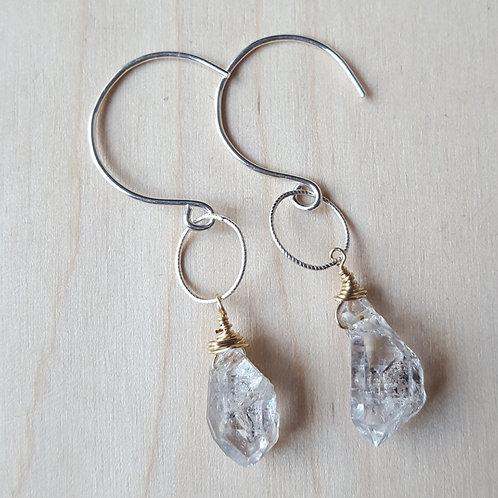 Herkimer Diamond Drop Earrings
