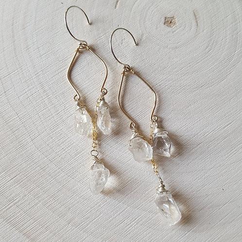 Herkimer Chandelier Earrings
