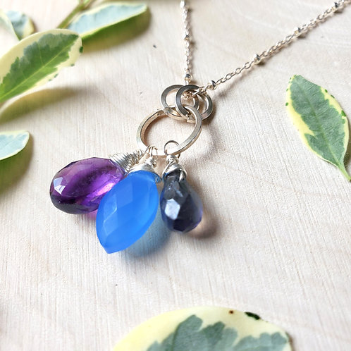 Jewel Triple Pendant Necklace