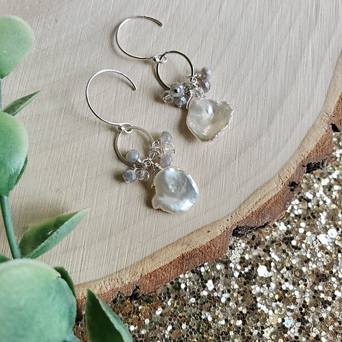 Pearl and Labradorite Clusters