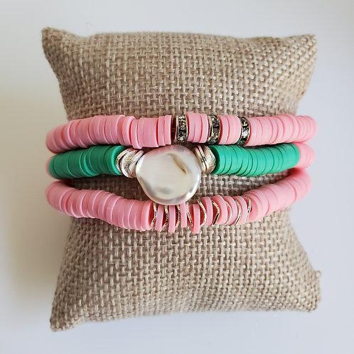 Pink & Green Polymer Set