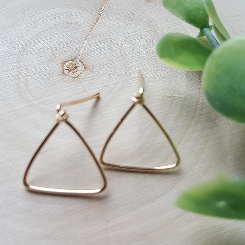 Pryamid Post Earrings