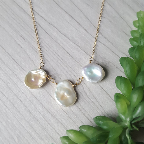 Three of a Kind Pearl Necklace