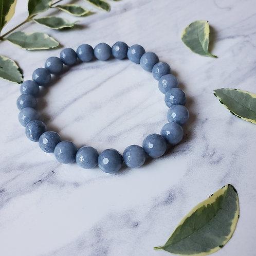Denim Blue Jade Stacking Bracelet