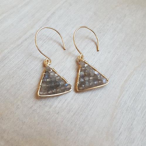 Tiny Pyramid Earrings