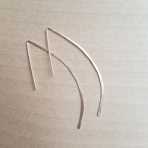Hammered Arc Earrings