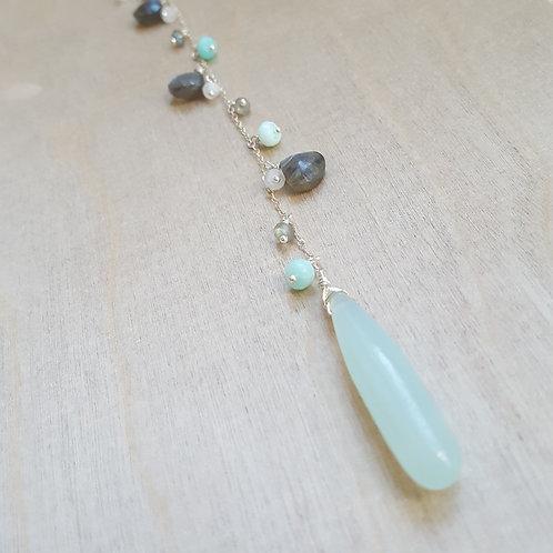 Grace Y-Necklace- Opal