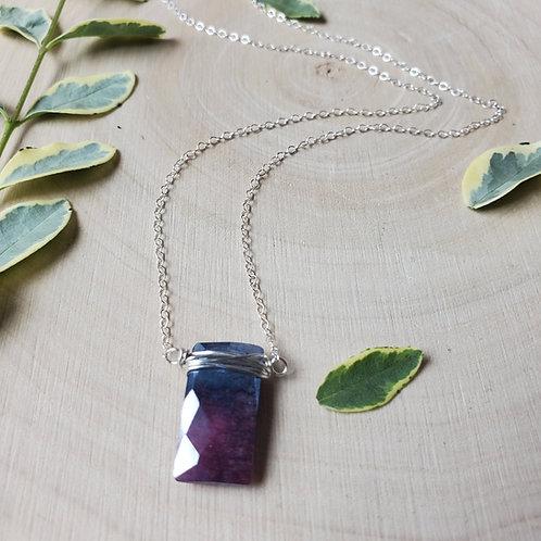 Ruby in Ziosite Pendant Necklace