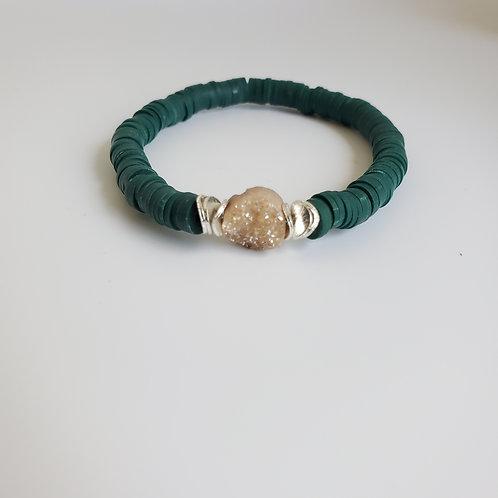 Evergreen Druzy Bracelet