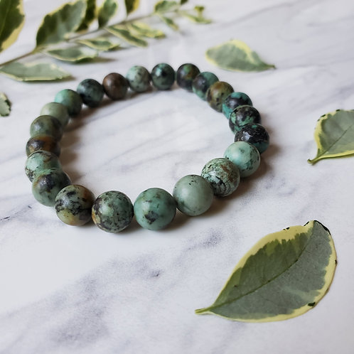 African Turquoise Stacking Bracelet