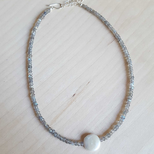 Gemstone and Pearl Choker