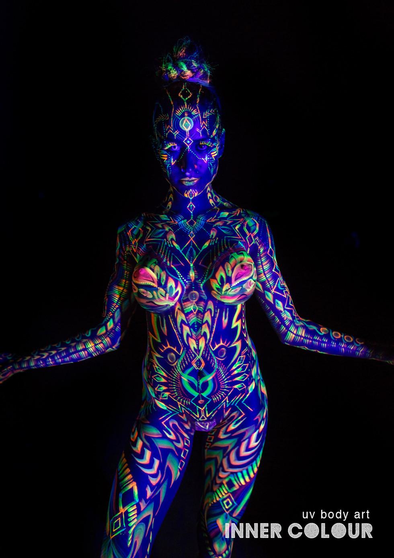Inner Colour UV body painting music video