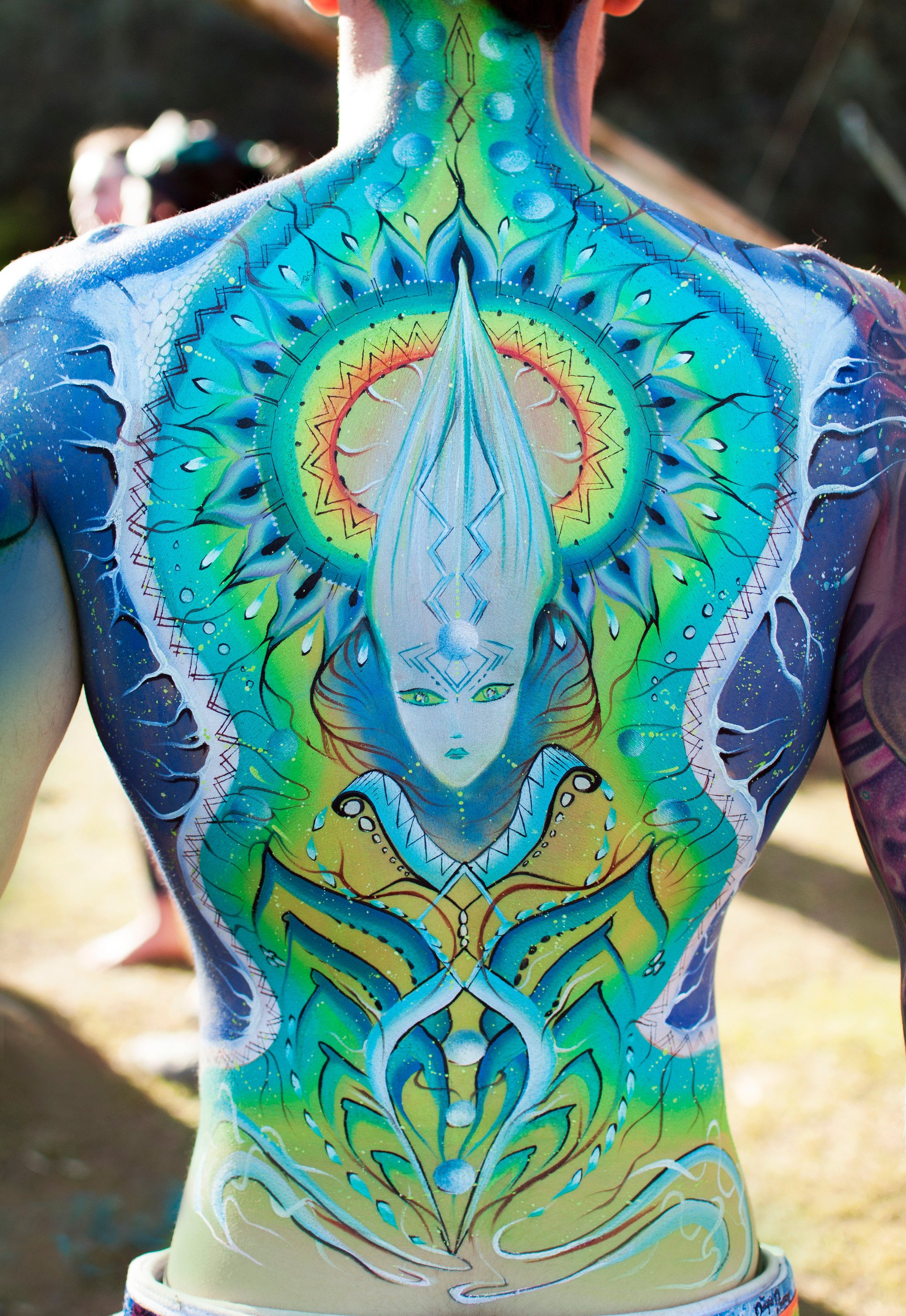 Body painting Melbourne, Body painting, live performance